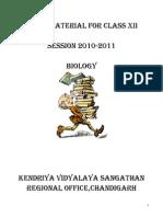 Biology Study Material Final Class Xii
