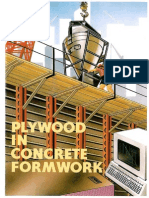 Plywood in Concrete Formwork
