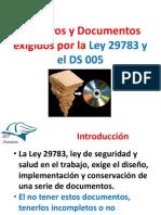 Registros y Documentos Exigidos Por La Ley 29783