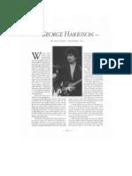 George Harrison Interview - Guitar Player Magazine