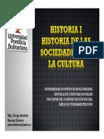 Cronograma de Sesiones y Exposiciones Historia I Grupo A