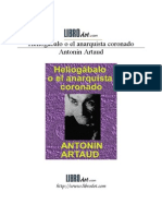 ARTAUD ANTOINE - Heliogabalo O El Anarquista Coronado