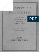 Lukasiewicz Aristotle's Syllogistic(1)