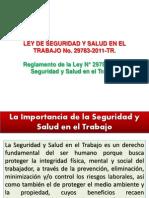 PRESENTACIÓN GENERRAL DEL REGLAMENTO DE LA LEY 29783 A