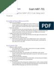 Exam MB7-701 Microsoft Dynamics NAV 2013 Core Setup and Finance