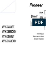 Avh-x1550dvd Avh-x2550bt Avh-x4550dvd Operating Manual Eng-esp-por