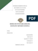Inventarios Revision Continua, Analisis d Decisiones