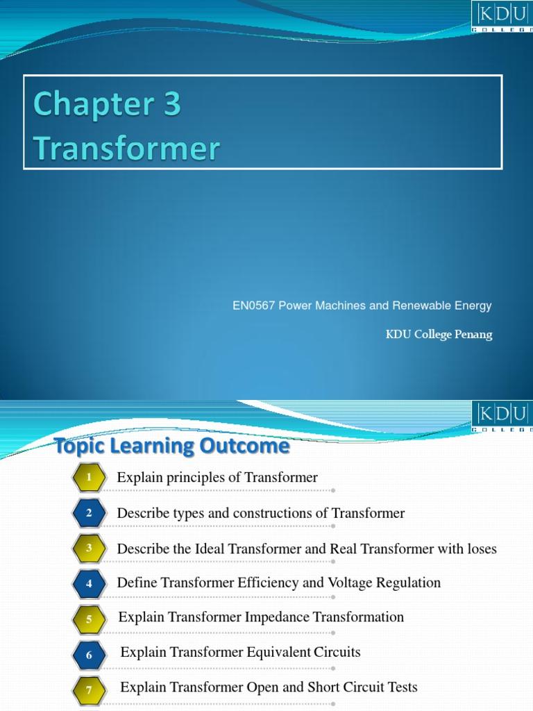 R03EN0567 Chap03 Transformer   Transformer   Electromagnetic Induction