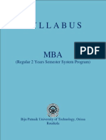 Syllabus MBA (BPUT)