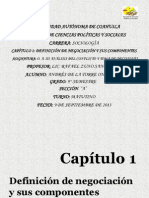 Exposición Capítulo 1 Definición de negociación y sus componentes