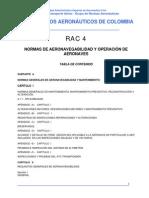 RAC PARTE 4 NORMAS DE AERONAVEGABILIDAD Y OPERACIÓN DE
