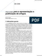 Normas para a apresentação e publicação de artigos