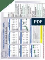 Calendário Acadêmico UNIC_2014-1