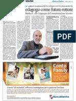 Un pedagogo come futuro rettore - Il Resto del Carlino del 6 marzo 2014