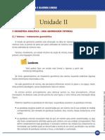 Geometria Analítica e Álgebra Linear_Unidade II