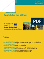 Presentation Campaign Military English