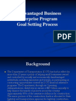 Disadvantaged Business Enterprise Program Goal Setting Process