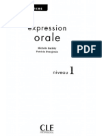 Expression Oral - Niveau 1