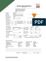 Welding Cost Estimation for 12 Joints in 8 NPS Sch. 80