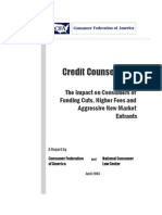 Credit Counseling Report