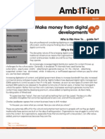 How To...Make Money from Digital Developments