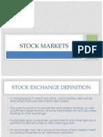Stock Market - Functions
