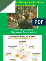 Impactos de la fumigación de cultivos de coca