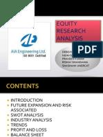 Equity Research Analysis Shashank