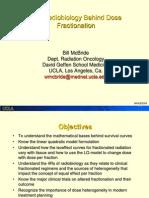 7. Radiobiology Behind Dose Fractionation