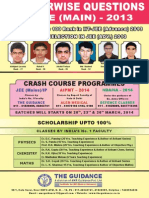 Chapterwise Questions of JEE Main - 2013