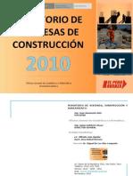 Constructoras - Directorio Ministerio de Vivienda 2010
