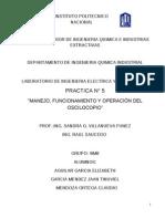 PRACTICA N° 5 MANEJO, FUNCIONAMIENTO Y OPERACION DEL OSCILOSCOPIO