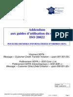 Addendum Guides Utilisation Standard ISO20022 - Remises Ordres SEPA - V1 0