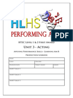 unit 3b acting logbook