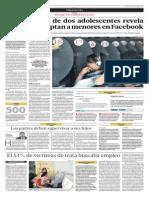 Desaparición de dos adolescentes revel aque mafias captan a menores en Facebook