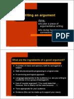 Bulding an Argument