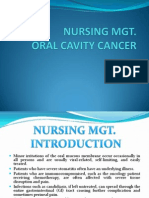 Nursing Mgt Oral Cav Cancer