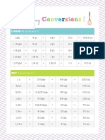 Free Printable Cooking Conversions Chart for Your Recipe Binder