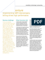 Accenture Implementing SAP Intercompany Billing Drives High Performance