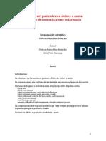 Gestione Del Paziente Con Dolore e Ansia_tecniche Di Comunicazione in Farmacia