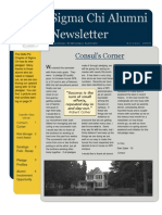 Sigma Chi Fraternity Alumni Newsletter Delta Psi Chapter