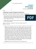 Antioxidant Activity of Papaya Seed