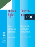 Principales tratados al 2011 según la UNESCO