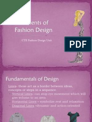 Elements Of Fashion Design Pdf Shape Clothing