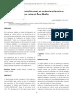 Evaluación de control interno y su incidencia en las cuentas por cobrar.