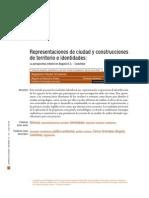 Representaciones de Ciudad y Construcciones de Territorio e Identidad