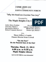 MAPLE HEIGHTS COMMUNITY FORUM_INCOME TAX LEVY
