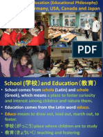 Comparative Education (Educational Philosophy)