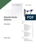 Reporte Febrero2013 Sector Eléctrico