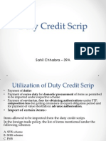 Duty Credit Scrip